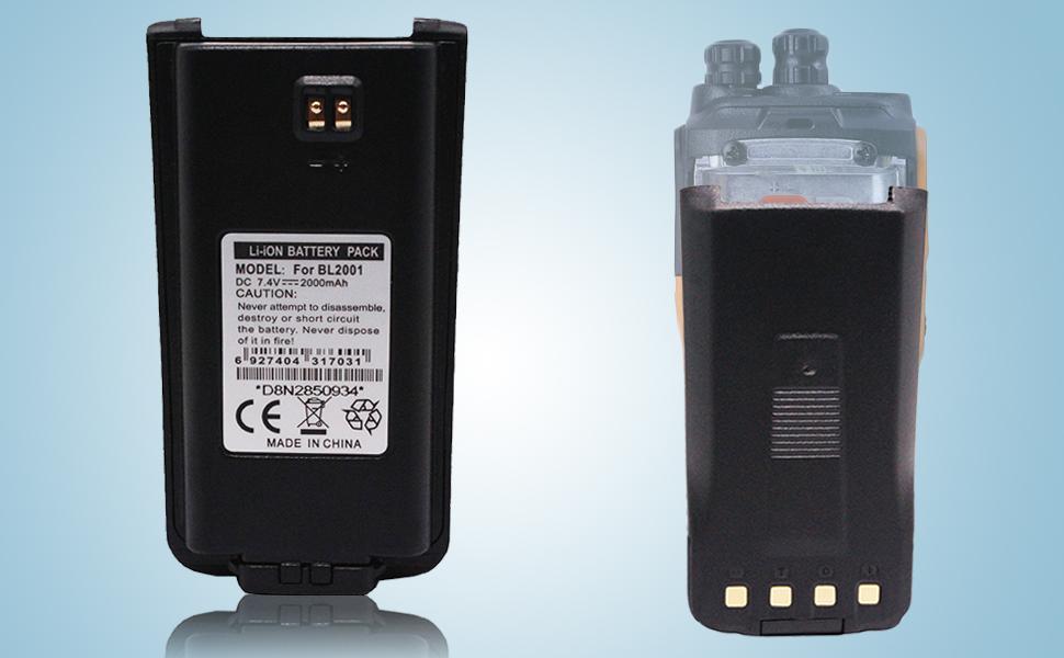 New OEM Hytera BL2001 Li-iON Battery for HYT TC-610 2000 mAh 1 Year Warranty
