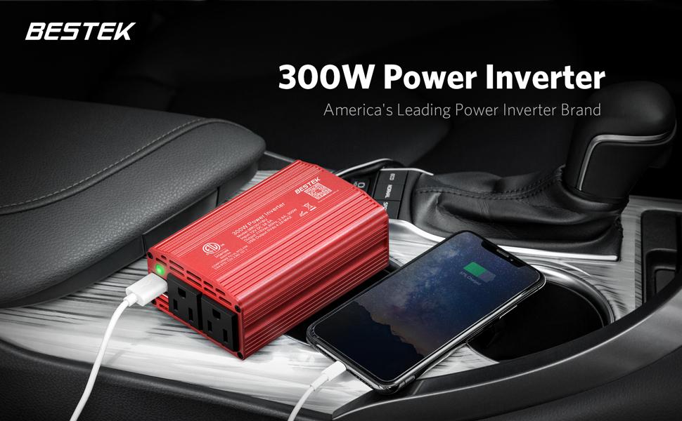 300w power inverter (red)