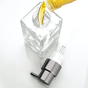 Foaming soap pump dispensers require less soap to produce a foaming lather