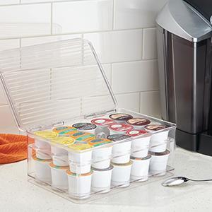 coffee morning routine wakeup bin box lid k-cup donut shop organize