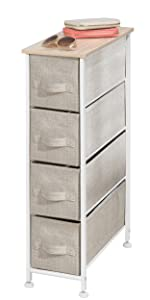 Amazon.com: MDesign - Organizador vertical para aparador, 4 ...