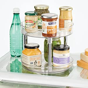 Lazy Susan Spinners - Rotating Fridge Storage Organizers