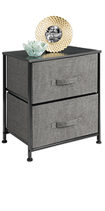 2 Drawer Storage in Charcoal