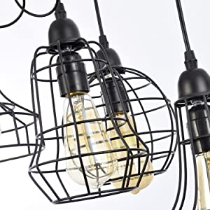 electro bp rustic barn metal chandelier max 200w with 5 light bulbs When a Light Switch Wiring showcases shades in a brilliant cage design adding a modern industrial style feeling to your home each unique pendant es with adjustable wire