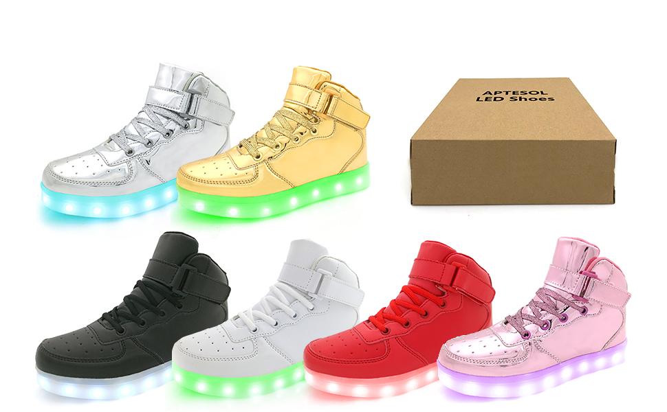 APTESOL Kids Adult 11 Modes LED Shoes
