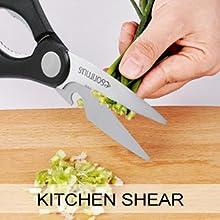 Amazon.com: Esonmus - Juego de cuchillos (15 piezas, incluye ...