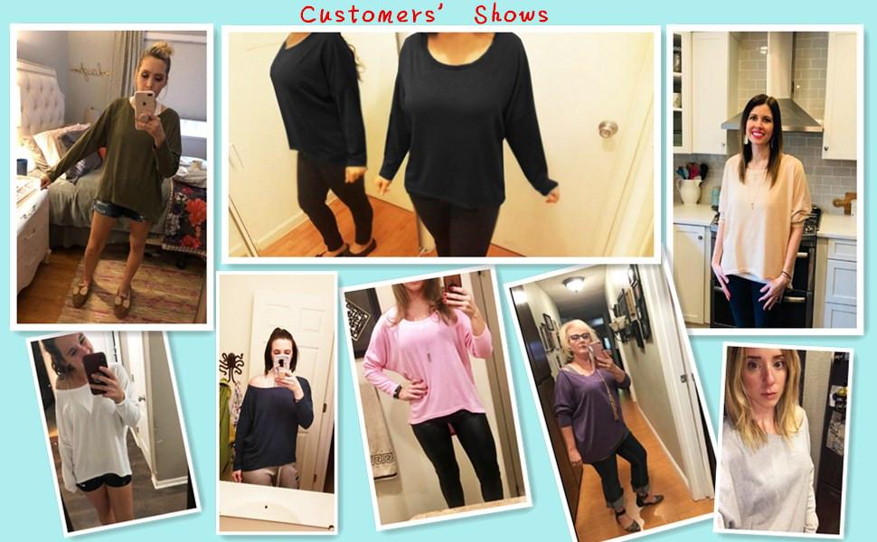 1e4e7cf9b19 UGET Women s Sweater Casual Oversized Baggy Off-Shoulder Shirts ...