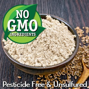 gerbs certified organic non gmo 100% all natural flax seed meal