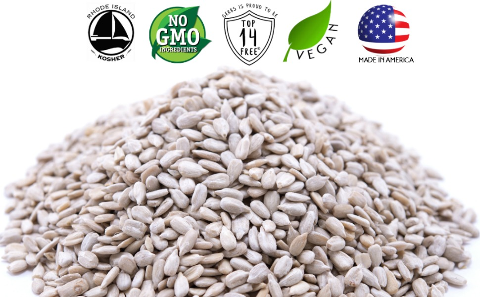 gerbs raw sunflower seed kernel non gmo vegan kosher superfoods all natural organic none artificial