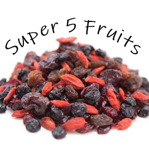 Gerbs Super 5 Dried Fruit Mix Unsulfured, No preservatives - Free from Top 14 Common Food Allergies