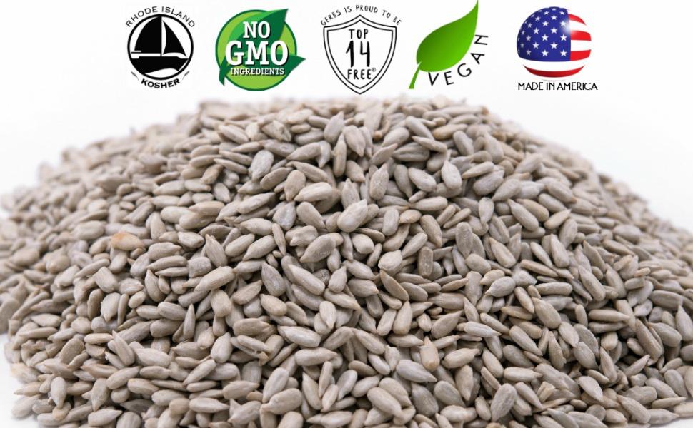 gerbs lightly sea salted sunflower seeds non gmo vegan kosher superfoods all natural organic