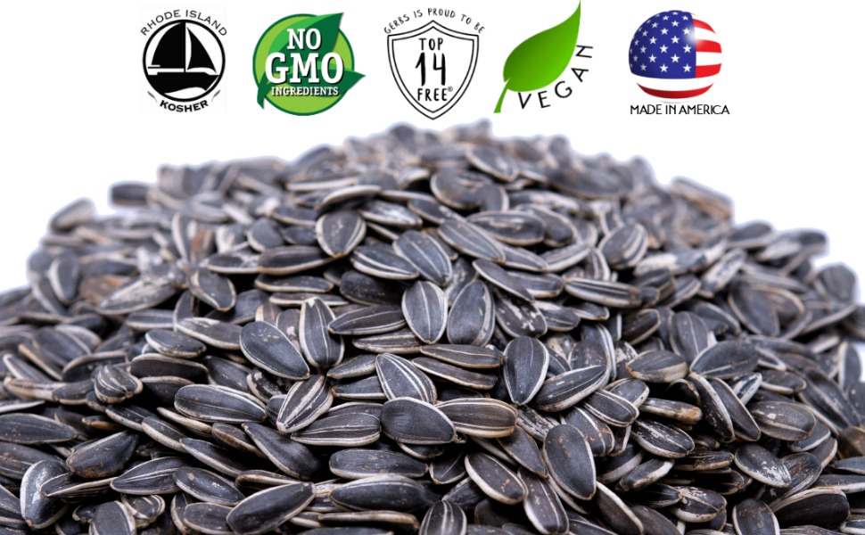 gerbs unsalted whole sunflower seeds non gmo vegan kosher superfoods all natural organic artificial