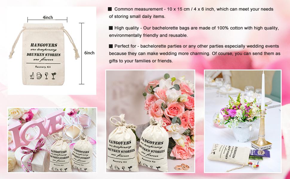 Amazon.com: Whaline - Bolsas de regalo para dama de honor ...