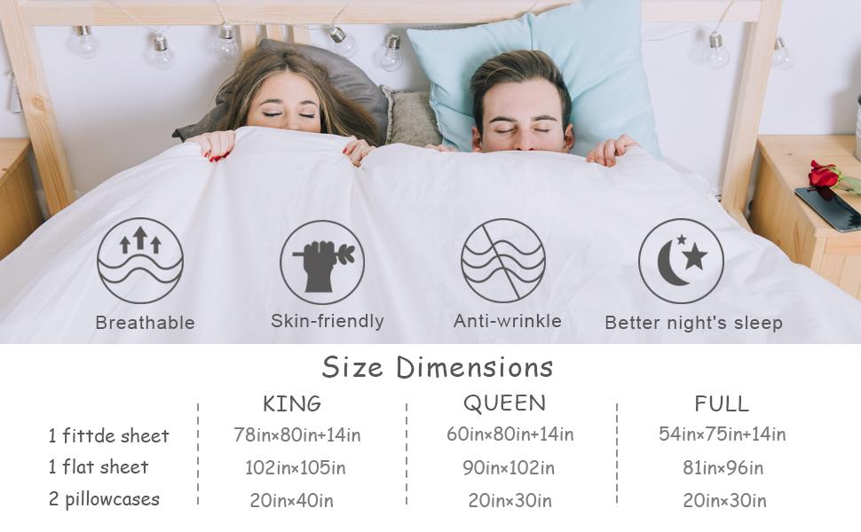 Amazon.com: Juego de sábanas, sábana encimera + sábana ...