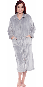bf9fef1021 Silver Lilly Women s Full Length Zip Up Robe · Silver Lilly Lightweight  Hooded Kimono Robe · Silver Lilly Lightweight Full Length Kimono Robe