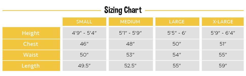 onesie size chart