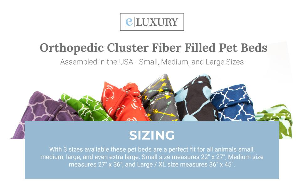 Cluster FIber Filled Dog Beds