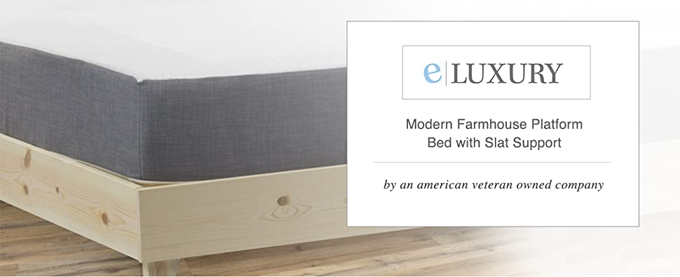 Amazon ELuxurySupply Platform Bed Frame