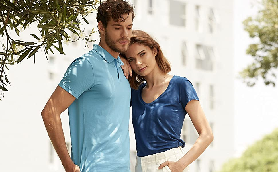 comfort comfortable cotton eco jersey men organic pima polo premium soft sustainable