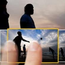 fingers touching images on a camera screen - panasonic, focus camera