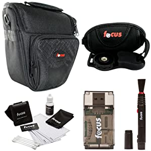 camera bag, cleaning kit and other accessories - focus camer