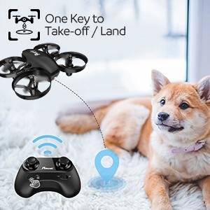 One key to Take off/land