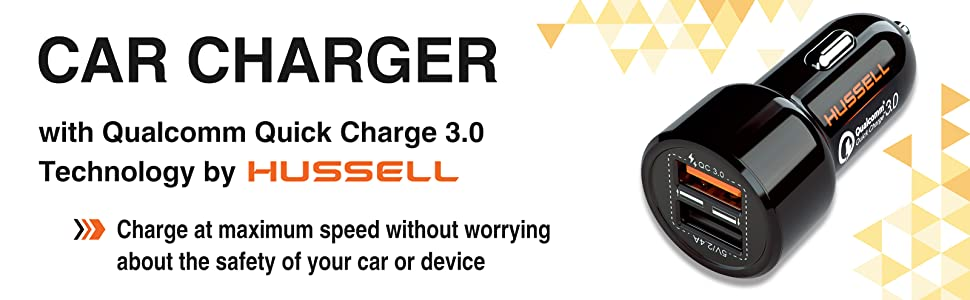 Amazon.com: 2019 HUSSELL Car Charger - Qualcomm Quick Charge ...
