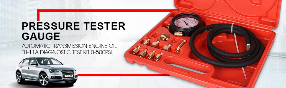 Automatic TU-11A Transmission Engine Oil Pressure Tester Gauge Diagnostic Kit US