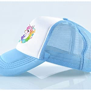 1df8313834250 Amazon.com  Waldeal Cute Unicorns Kids Girls Mesh Caps Trucker Hats ...