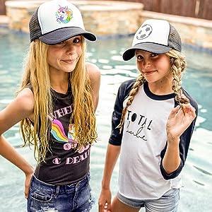 Dance hip pop dabbing horse ponytail ponycap messy high buns trucker summer funny beach squad vibes