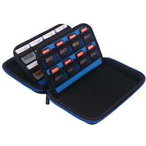 Video Game Card Storage Case - Blue