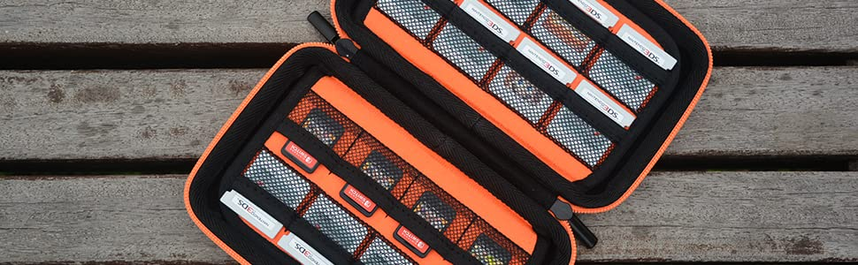 New 3DS XL Game Storage Case -Orange