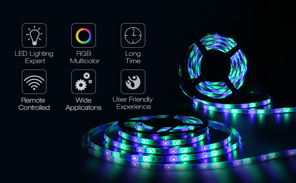 Amazon Com New 2019 Led Strip Lights Kit Waterproof Two