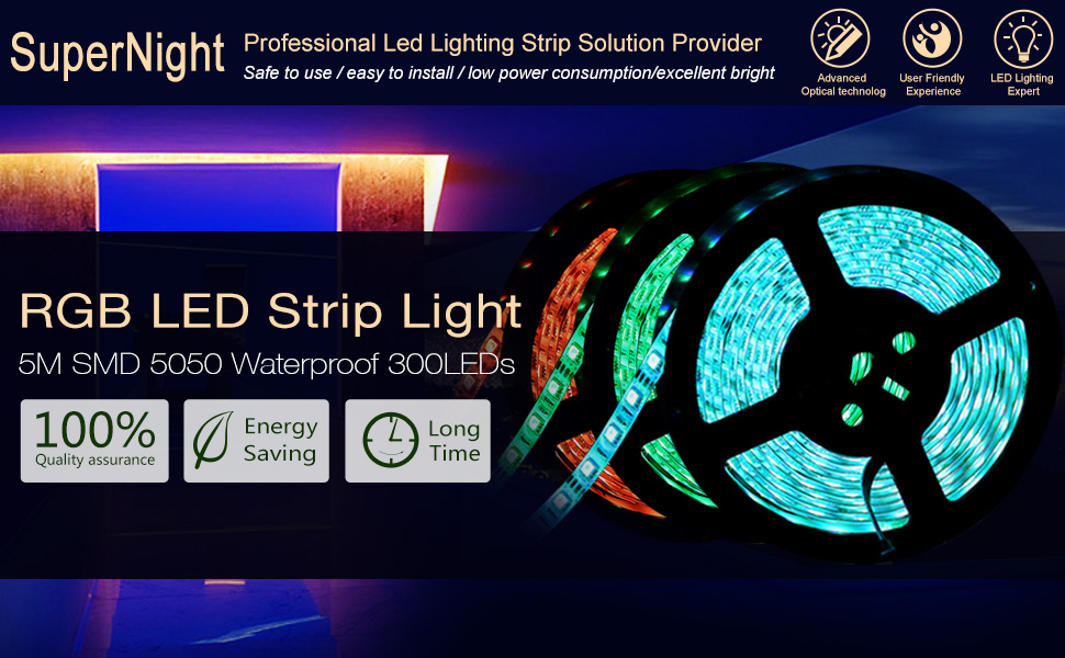 Colored Led Light Strips Simple Amazon SUPERNIGHT TM 6060FT 60M SMD 600600 Waterproof 60LEDs