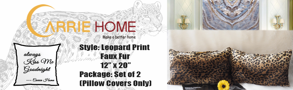 leopard pillow