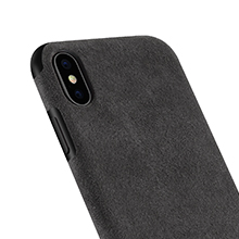 the latest c746b e81b9 Mthinkor Compatible with iPhone Xs Max Case Luxury Slim Case Made of  Alcantara Material (Black)
