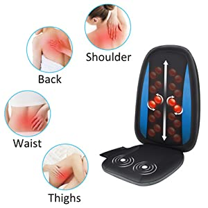 back and shoulder waist thighs massage chair