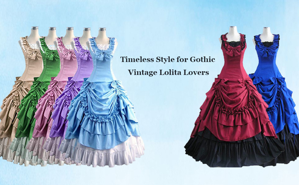 the sleeveless Lolita dress