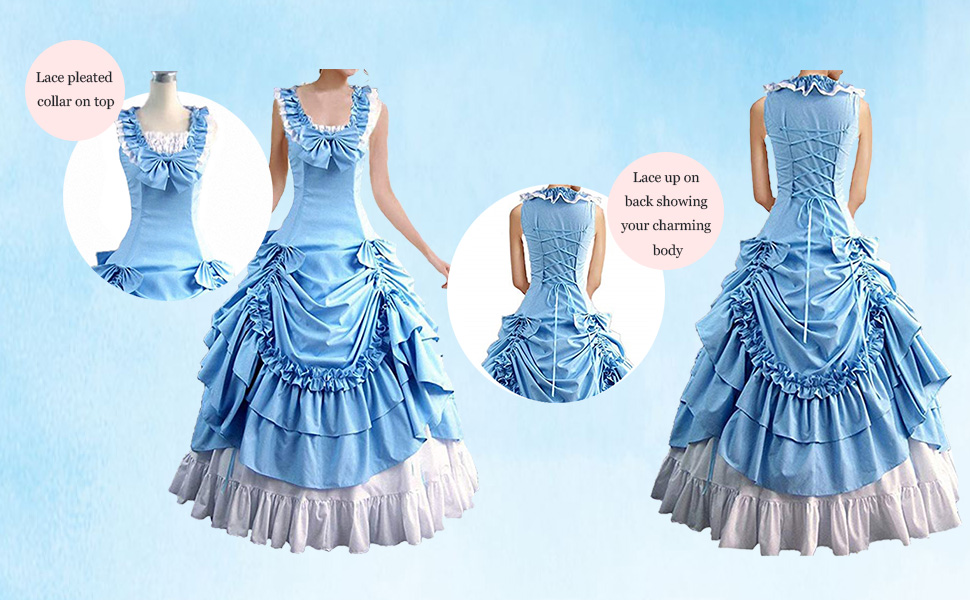 the blue Lolita dress for women