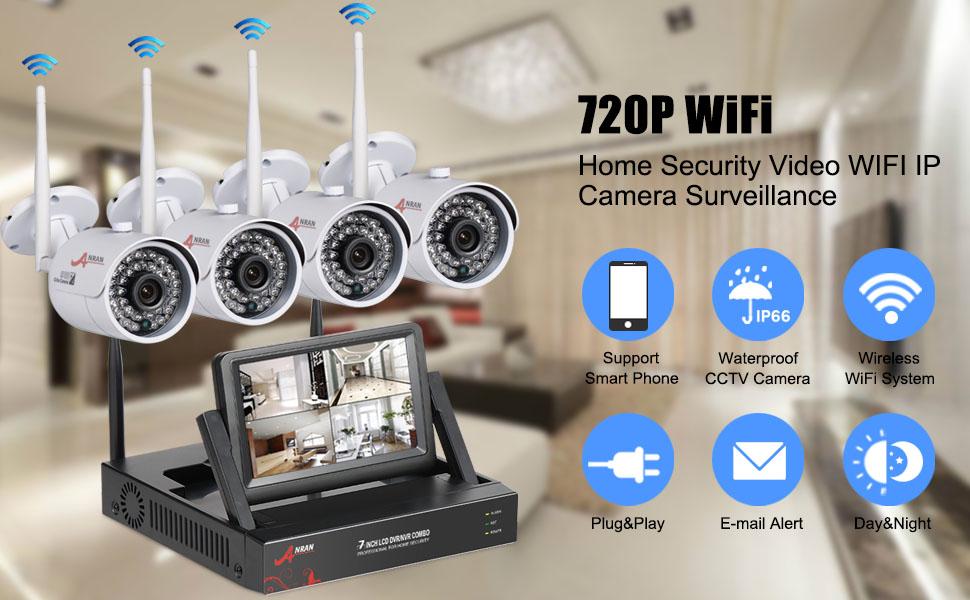 Amazon Com Wireless Security Camera System 4ch Wireless