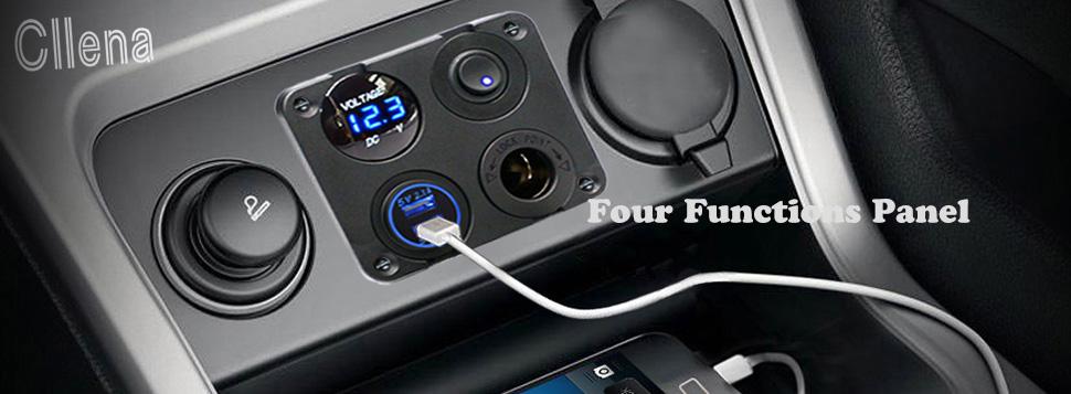 Amazoncom Cllena Dual USB Socket Charger 21A21A LED