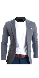 2a954266012 FLATSEVEN Mens Casual Premium Blazer Jacket · FLATSEVEN Men s Casual Button  Down Shirt · FLATSEVEN Men s Slim Fit Casual Oxford Button Down Shirt ...