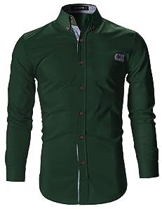 Mens Designer Clothes   Flatseven Mens Designer Slim Fit Dress Shirts At Amazon Men S