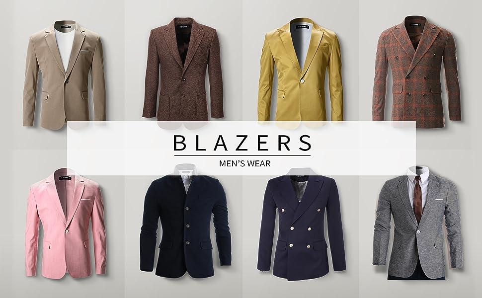 FLATSEVEN Mens Fit Casual Premium Blazer Jacket at Amazon