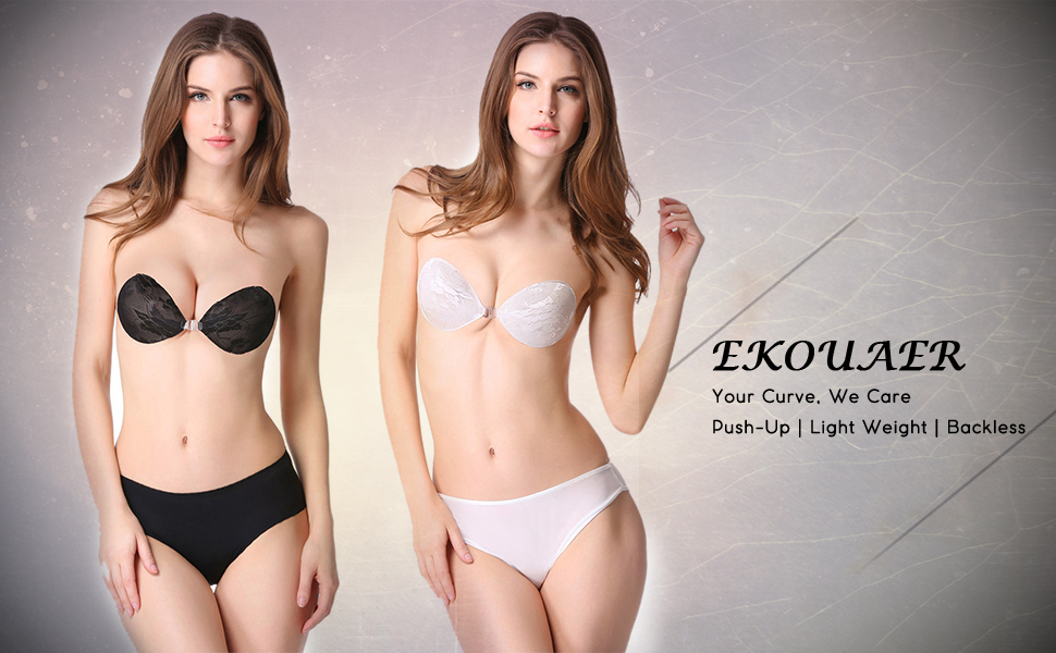 eaed22ec7a2d6 Feel confidently beautiful in strapless or low-back dresses with the Lace  Trend Womens SGS adhesive bra.This stick-on