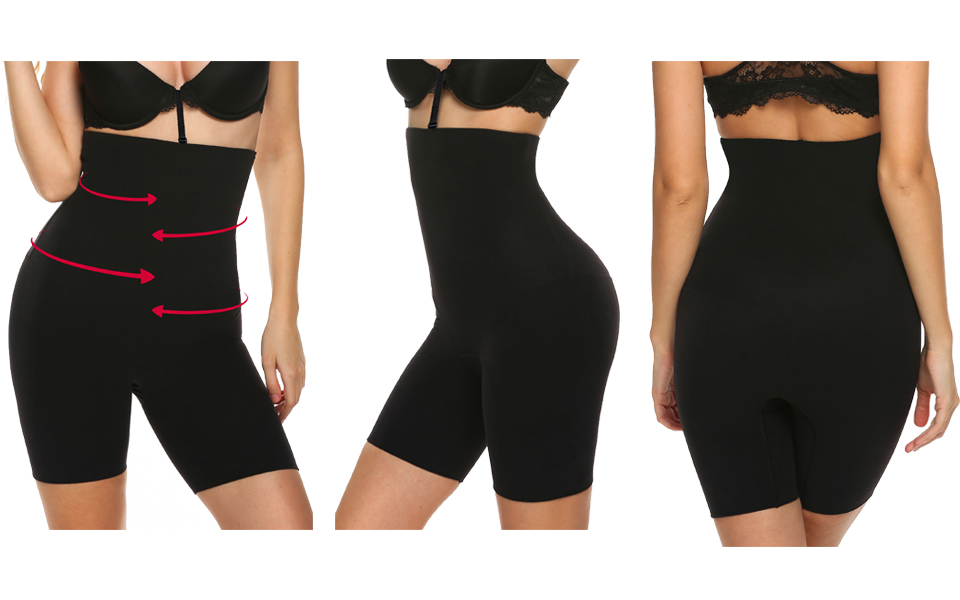 cc21409d1bcd8 Ekouaer Women s Waist Cincher Girdle Tummy Shapewear Hi-Waist Sexy Tummy  Brief Firm Control Boyshort Thigh Slimmer Panty Shapewear.