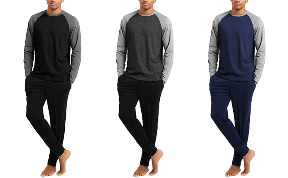 Men's Long Sleeve Pjs Set