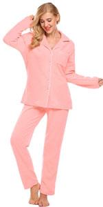506ac59cd1 Ekouaer Women s Comfort Pajamas Sleepwear Long Sleeve Pj Set with ...