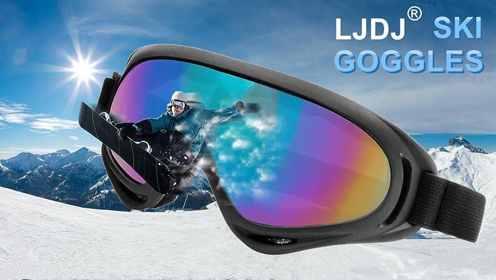 80e107effac LJDJ Ski Goggles Fashion light luxury