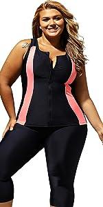 e0bb61b314eb0 Stripes Tankini Swimwear with Brief · Floral Zip Tankini Swimsuits · Color  Blocked Swim Leggings Swimsuit · Off The Shoulder One Sleeve Slit Dress ...
